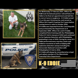 K-9 Eddie Warminster Township Police Department K9